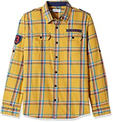 US Polo Boys Shirt (UJSH5868_Medium Yellow_M FS)