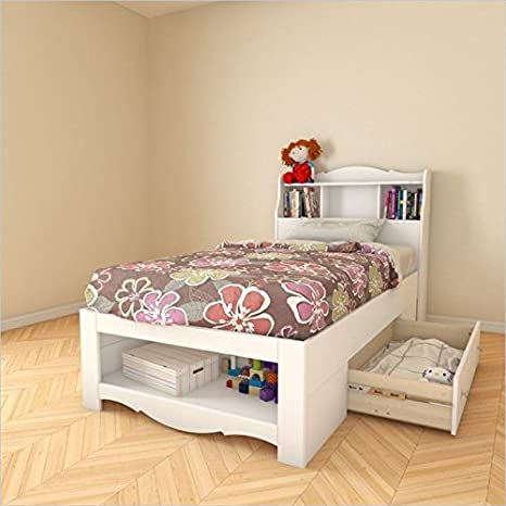 Nexera Dixie 2 Piece Twin Bedroom Set in White
