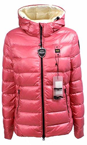 Giubbotto Donna BLAUER 16WBLDC03061 004288 Nylon piuma d'oca Piumino corto con cappuccio Autunno Inverno 2016 Rosa S