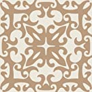 Zenith Products DecoTile Terranova Removable Decorative Decals for Tile, Mirror and Glass, 6-Inch, Beige