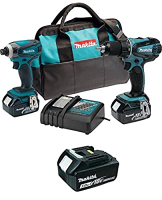 Makita XT260 Combo Kit with Free BL1830 18-Volt LXT Lithium-Ion Battery