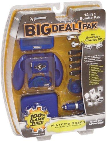 dreamGEAR Big Deal Pak 12-in-1 Bundle for Game Boy Advance SP – Cobalt Blue