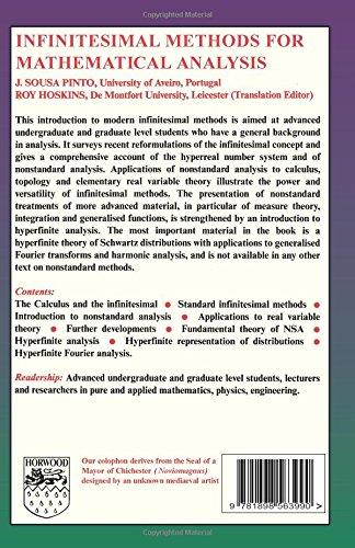 Infinitesimal Methods of Mathematical Analysis (Mathematics and Applications)