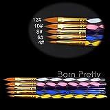 5Pcs/Set Newly Twisted Handled Nail Art Brush For Powder Glitter UV Acrylic Nail Art # 11788