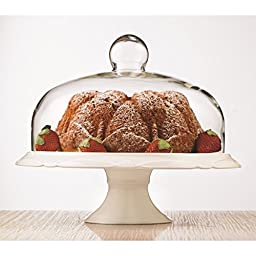 Brilliant - Bianco Pedestal Cake Plate and Dome 30cm by Brilliant