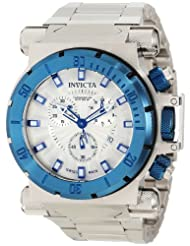 Invicta Men's 10029BLB Coalition Force Chronograph Silver Dial Watch
