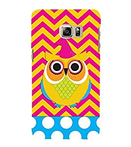ANIMATED OWL PATTERN 3D Hard Polycarbonate Designer Back Case Cover for Samsung Galaxy S6 Edge+ G928 :: Samsung Galaxy S6 Edge Plus G928F