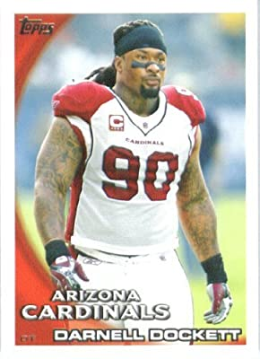 2010 Topps NFL Football Card #233 Darnell Dockett - Arizona Cardinals - NFL Trading Card