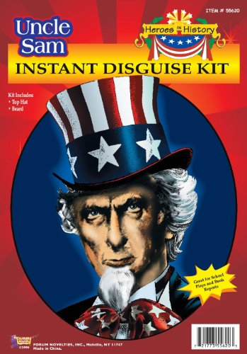 Uncle Sam Costume Kit Hat & Beard 55620