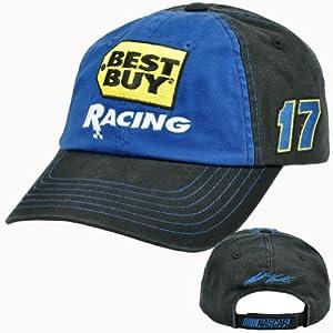 Best Buy Speedway Racing Matt Kenseth #17 Garment Wash Roush Fenway Race Hat Cap by NASCAR