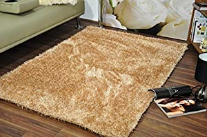 York Starlet Twilight Thick Super Soft Shaggy Rug Hand Made Thick Soft Pile Modern 100% Berclon Twist Fibre Non-Shed Polyester Shaggy Carpet Rugs Heat Set by AHOC