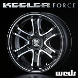 KEELER キーラー フォース FORCE アルミホイール(1本) 16x6.5 +38 139.7 6穴 ブラック 16インチ