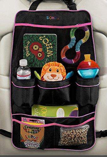 Soho Car Backseat Organizer (Light Pink) front-754567