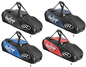 Rawlings PPWB Player Preferred Wheeled Baseball/Softball Bag Scarlet