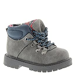 carter\'s Stone Outdoor Boot (Toddler/Little Kid), Grey/Blue, 10 M US Toddler