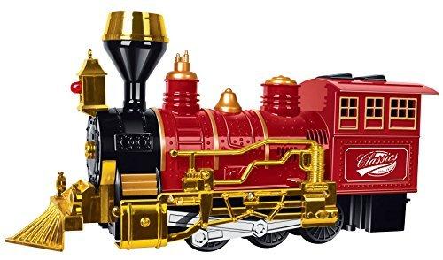 Toyze® Treno per Bambini Classico Bump and Go, con Luci e Suoni, il giocattolo perfetto per Natale e altre festività divertenti