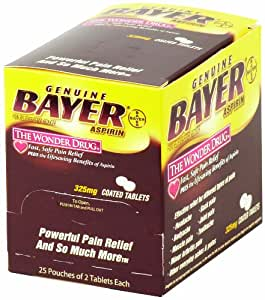 Medique Products 45650 Bayer Aspirin, 50 Tablets