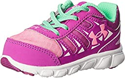 Kids Under Armour GINF Spine RN GR Infant/Toddler, Strobe/White/Pink Craze, 2 Infant M