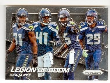 Legion of Boom football card (Seattle Seahawks) 2014 Prizm Chrome #200 Richard Sherman Kam Chancellor Earl Thomas Byron Maxwell