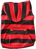 (Banly Shop) 犬の服 爽やか ボーダー フード付き 服 猫の服 小型犬 中型犬 大型犬 猫 犬 ペット用品 5色 10サイズ (20号(3L),レッド)