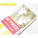Cartoon Earphone Animal Unicorn 3D Earbuds In Ear Headphone for Apple Samsung HTC Android Smartphone Tablet MP3 Stereo Wired 3.5 mm Best Gift (Animal Unicorn) (Color: Animal Unicorn)