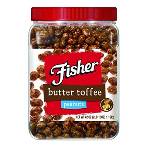 Fisher Butter Toffee Peanuts - 42 Oz. Cannister (Peanuts Fisher compare prices)