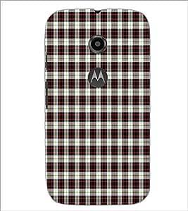 PrintDhaba Check Pattern D-5917 Back Case Cover for MOTOROLA MOTO E2 (Multi-Coloured)