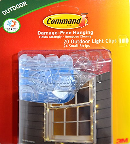 command clips for hanging outdoor string lights 20 clear clips home. Black Bedroom Furniture Sets. Home Design Ideas