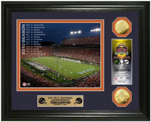 NCAA Auburn Tigers Auburn University 2010 BCS Championship Game 24KT Gold Coin Photo Mint