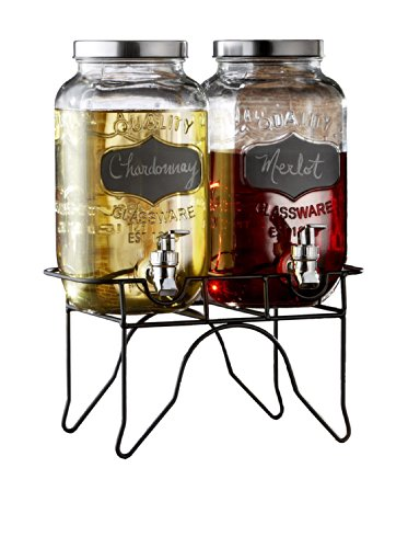 Style Setter Blackboard Beverage Dispenser Set with Stand (Drink Dispenser Set Of Two compare prices)