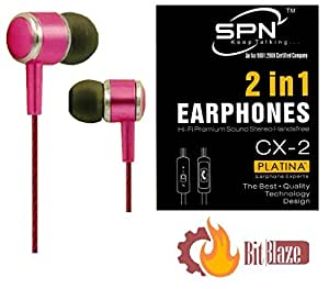 BitBlaze 2 in 1 PlatinaHeadset (Pink) for intex power plus