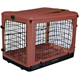 Pet Gear The Other Door Steel Crate with Fleece Pad for Cats and Dogs Up to 90-Pound, Brick