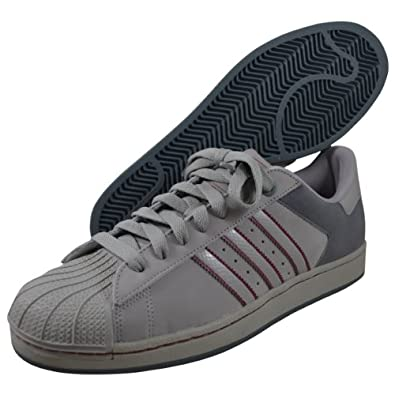 Amazon.com: adidas Originals Superstar 2 Sneaker,Aluminium/Red