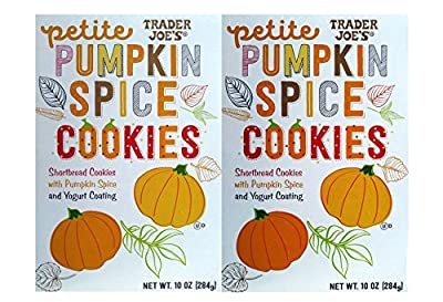2 Boxes Trader Joes Petite Pumpkin Spice Cookies from Trader Joe's