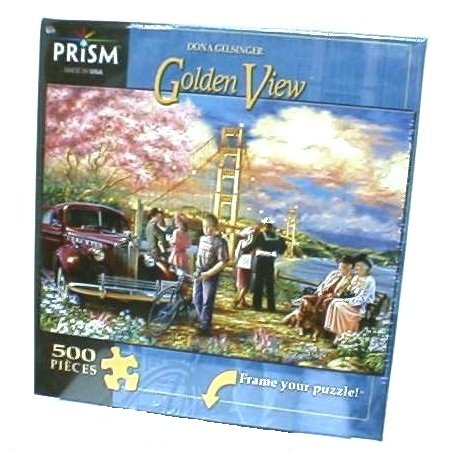 "Prism Jigsaw Puzzle, Golden View By Dona Gelsinger, 500 Pieces, 19"" x 13""/ 48cm x 33cm - 1"