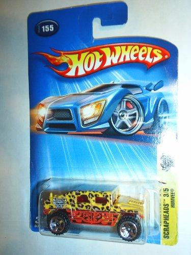 Hot Wheels: Scrapheads 3/5, Humvee (With Leopard Spots), Collector Number 2004 #155