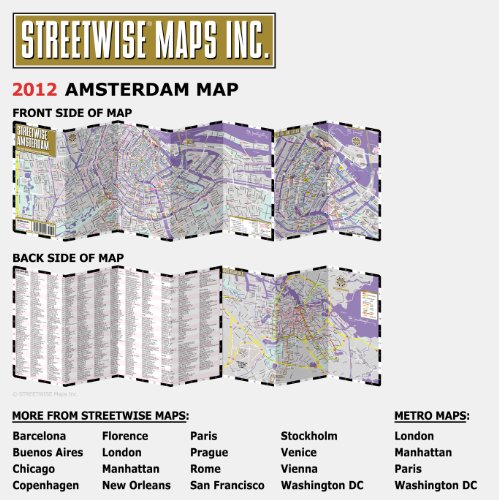 Streetwise Amsterdam City Center Street Map Amsterdam...