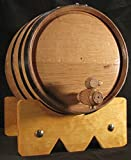 10L American Oak Barrel with Black Bands (10lb)