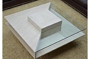 table basse en marbre louvre travertin. Black Bedroom Furniture Sets. Home Design Ideas