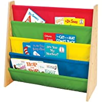 Tot Tutors Kids Book Rack Storage Bookshelf (Natural/Primary)