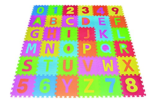 Letters-Numbers-Puzzle-Play-Mat-36-Tiles-EVA-Foam-Rainbow-Floor-by-Poco-Divo