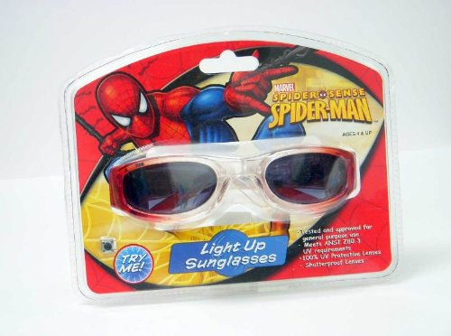 Spider Sense Spider-Man Light Up Sunglasses front-1039912