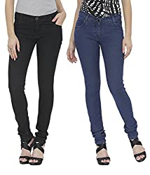 NGT Women's Black And Blue Jeans
