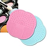 KINGLAKE2 Pcs Makeup Brush Cleaner Brush Cleaning Mat High Quality Silicone Cleaning Pad Cosmetic Brush Mini Washing Scrubber with Suction Cup