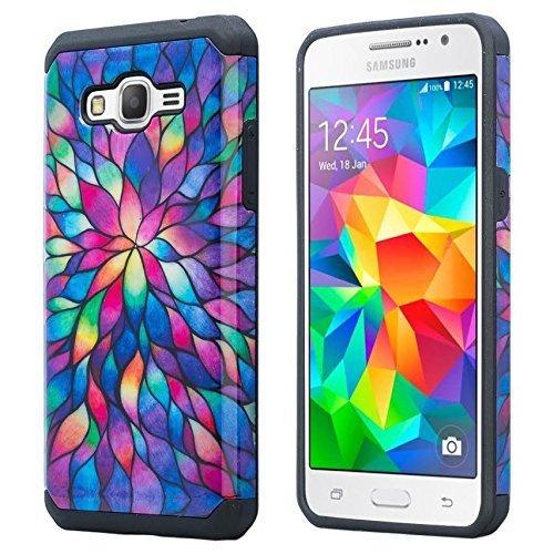 Galaxy S3 Case - Wydan Slim Hybrid Shock Resistant Absorbant Tough Hard Phone Case Shock Resistant Cover - Rainbow Flower for Samsung Galaxy S3 SIII (Samsung Galaxy S3 Phone Case compare prices)