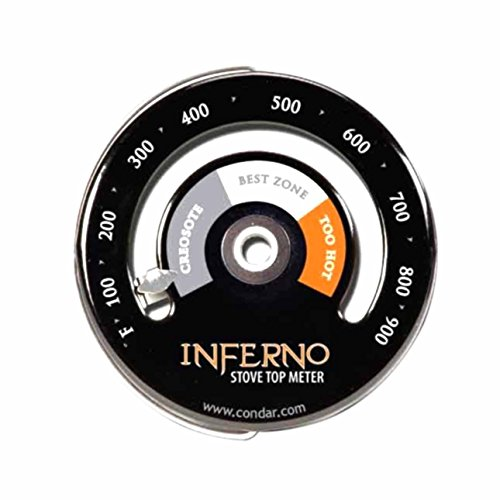 Inferno Stove Top Meter (3-30) thermometer measures temperatures on stove top (Top Stove compare prices)
