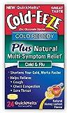 Cold-Eeze Cold Remedy Plus Multi Symptom Relief Quick Melts, Natural Honey Lemon, 24 Count