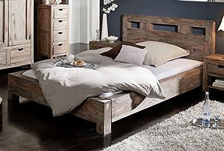 En bois de palissandre massif pour lits 180 x 200, bois de meubles nature grey#202
