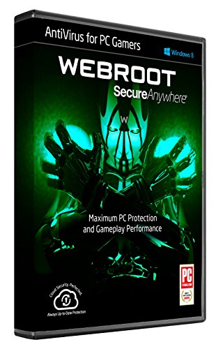 Webroot AntiVirus for PC Gamers 2017 - 1 Year 1 Device