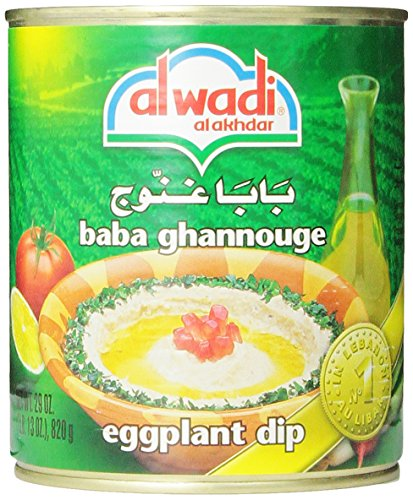 Al Wadi Baba Ghannouge Eggplant Dip, 29-Ounce (Pack Of 4)